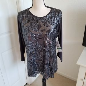 Sharon Young New Dressy Sequined Pull-on T…